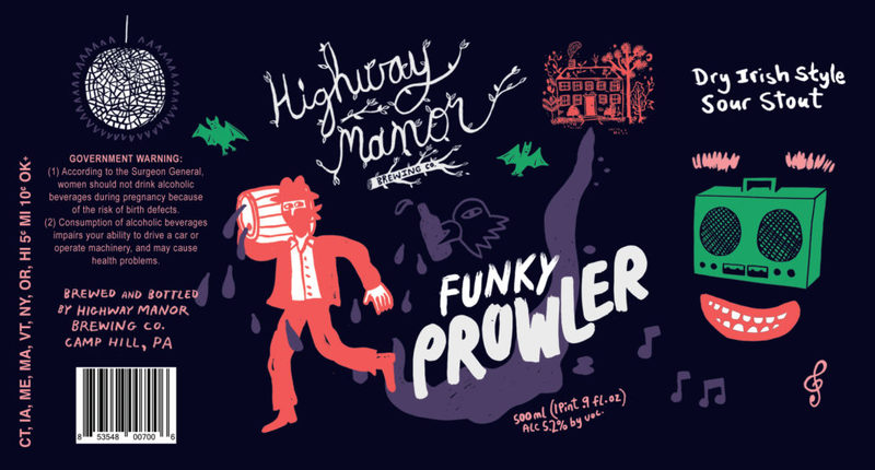 Highway Manor Funky Prowler beer Label Full Size