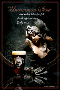 Bent River Uncommon Stout beer Label Full Size