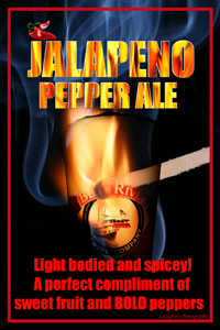 Bent River Jalapeno Pepper Ale beer Label Full Size