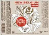 New Belgium Lips of Faith De Koninck beer