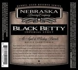Nebraska Black Betty Reserve Series Russian Imperial Stout 2015 beer