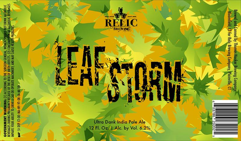 Relic Leaf Storm beer Label Full Size
