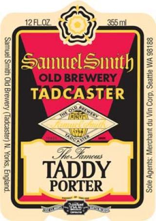 Samuel Smith's Famous Taddy beer Label Full Size