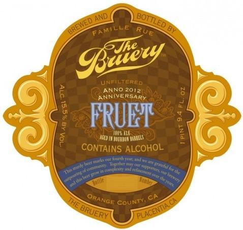Bruery Fruet beer Label Full Size