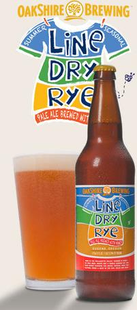 Oakshire Line Dry Rye beer Label Full Size