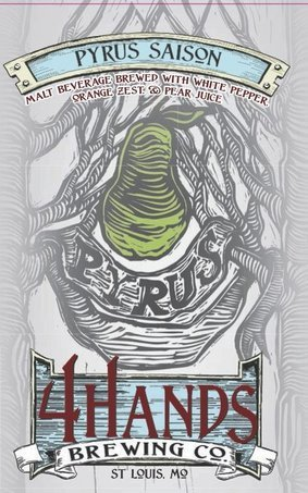 4 Hands Pyrus beer Label Full Size