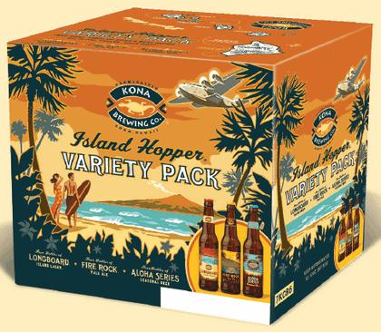 Kona Island Hopper Variety Pack beer Label Full Size