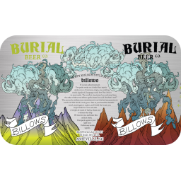 Burial Billows beer Label Full Size