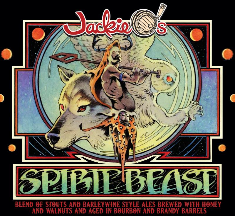 Jackie O's Spirit Beast 2016 beer Label Full Size