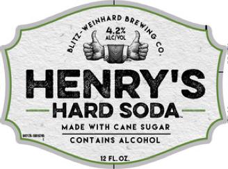 Henry's Hard Grape Soda beer Label Full Size