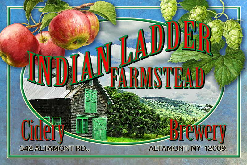 Indian Ladder Farmstead Dry Hard Cider beer Label Full Size