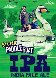Ship Bottom Stupid Paddle Boat beer Label Full Size