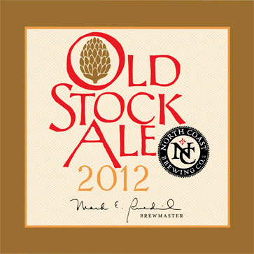 North Coast Old Stock Ale 2012 beer Label Full Size