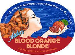 Anchor Blood Orange Blonde beer Label Full Size