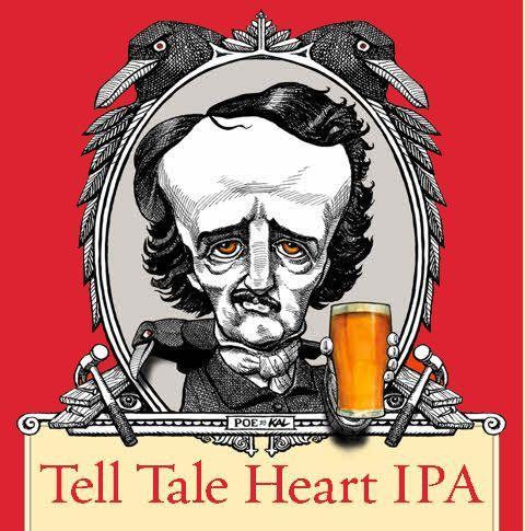 RavenBeer Tell Tale Heart Grapefruit IPA beer Label Full Size
