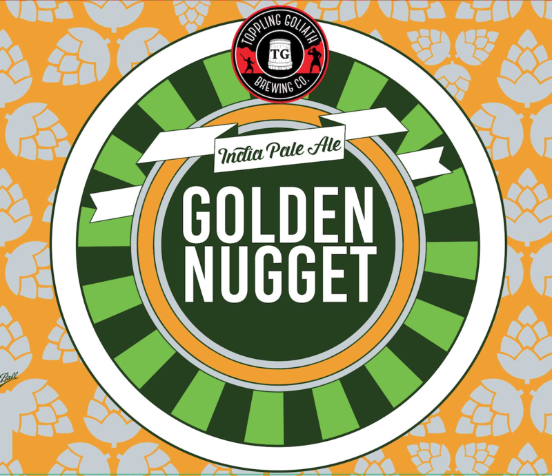 Toppling Goliath Golden Nugget IPA beer Label Full Size