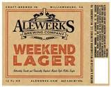 Aleworks Weekend Lager beer