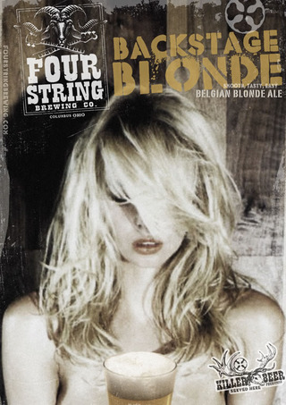 Four String Backstage Blonde beer Label Full Size