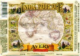 Avery IPA beer Label Full Size