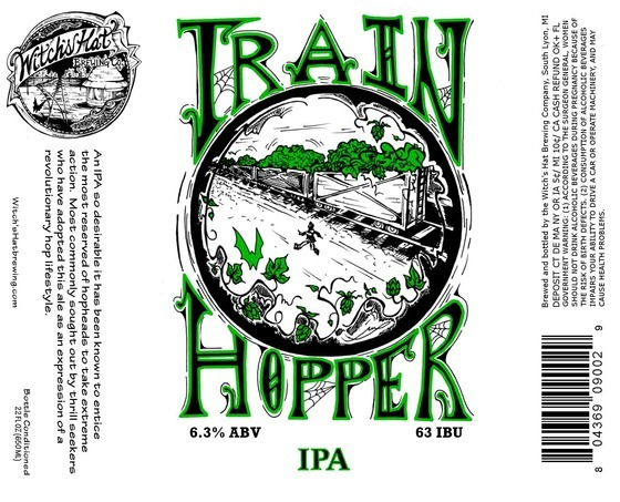 Witch's Hat Train Hopper beer Label Full Size