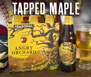 Angry Orchard Tapped Maple beer Label Full Size