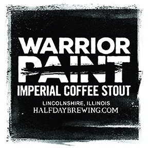 Half Day Warrior Paint beer Label Full Size