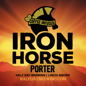 Half Day Coffee Infused Iron Horse Porter beer Label Full Size