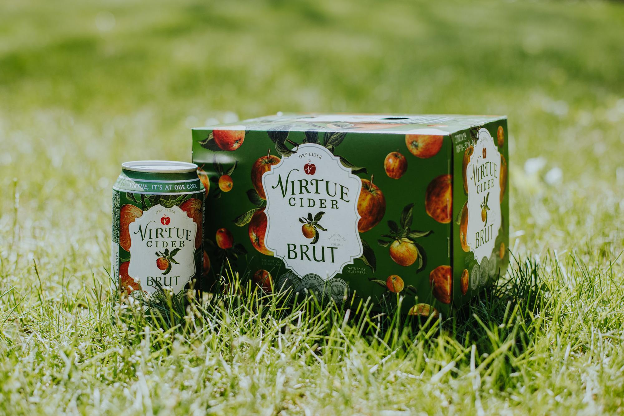Virtue Brut beer Label Full Size