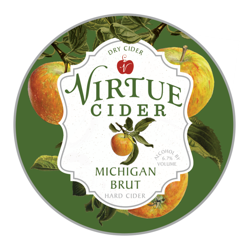 Virtue Cider Michigan Brut Beer