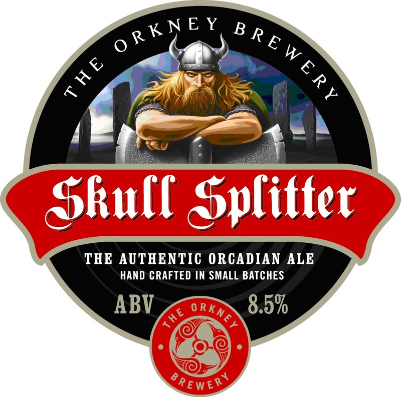 Orkney Skull Splitter beer Label Full Size