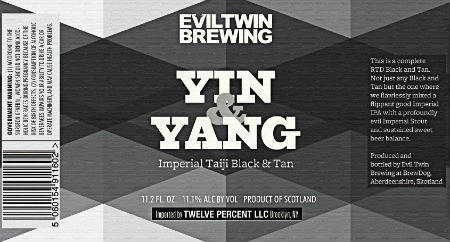 Evil Twin Yin and Yang beer Label Full Size
