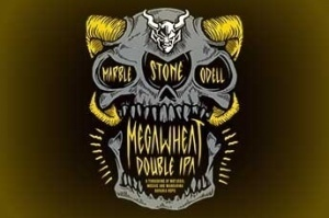 Stone/Marble/Odell Megawheat beer Label Full Size