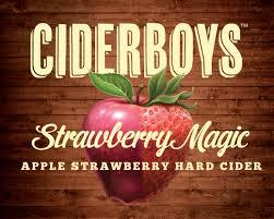 Ciderboys Strawberry Magic Hard Cider beer Label Full Size
