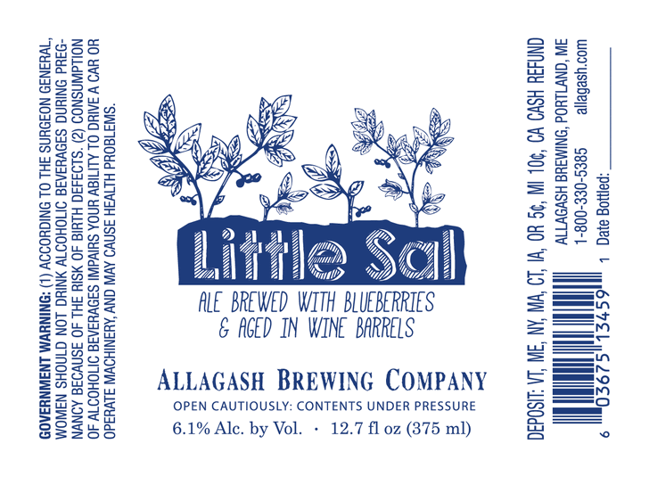 Allagash Little Sal beer Label Full Size