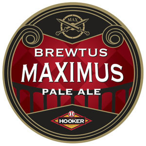 Thomas Hooker Brewtus Maximus beer Label Full Size