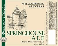 AleWerks Springhouse Ale beer Label Full Size