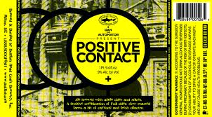 Dogfish Head Positive Contact beer Label Full Size