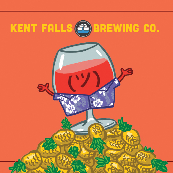 Kent Falls Hawaiian Brunch beer Label Full Size