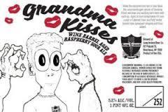 Long Ireland Grandma Kisses Raspberry Sour beer Label Full Size