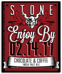 Stone Enjoy By 2.14.17 Chocolate & Coffee IPA beer Label Full Size