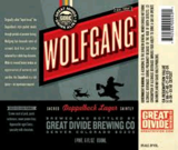 Great Divide Wolfgang Doppelbock beer