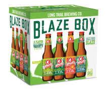 Long Trail Blaze Box beer Label Full Size