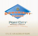 Port City Downright Pilsner beer