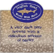 Dogfish World Wide Stout beer Label Full Size