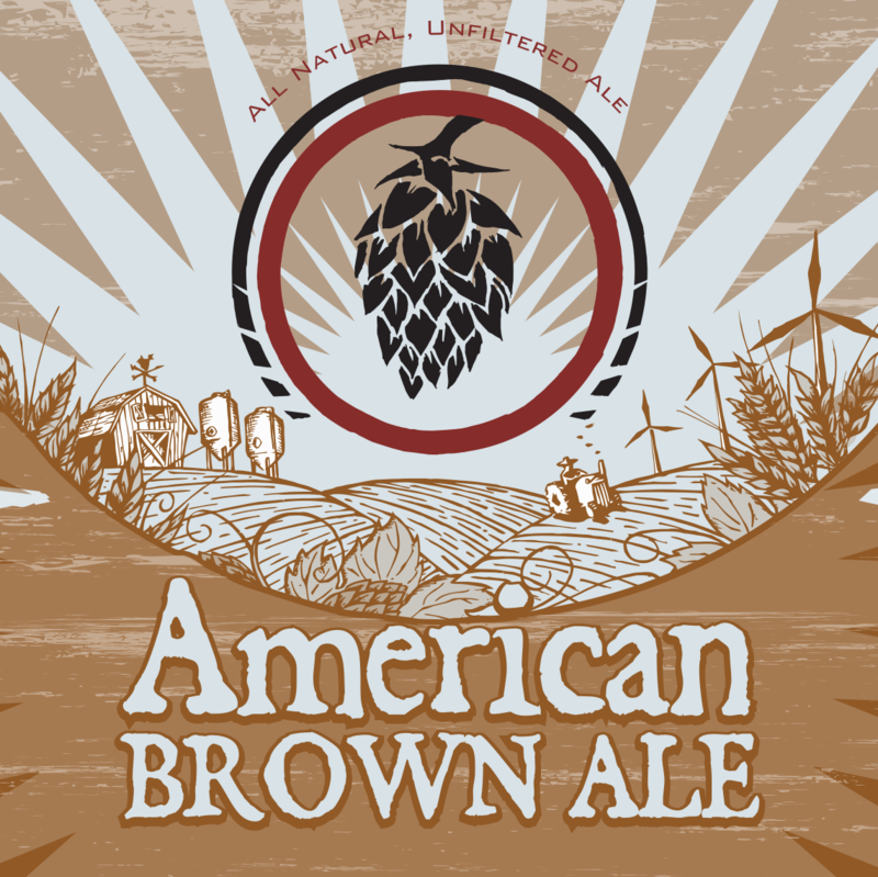 Good Nature American Brown Ale beer Label Full Size