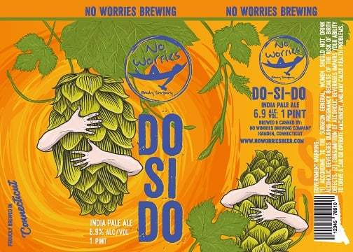No Worries - Do-Si-Do IPA (Do Si Do IPA) beer Label Full Size