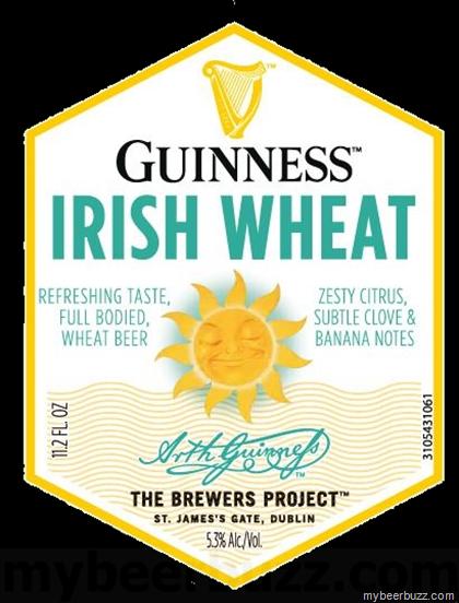 Guinness Irish Wheat beer Label Full Size