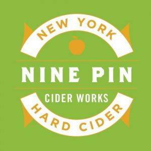 Nine Pin Strawberry Cider beer Label Full Size