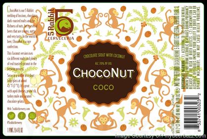 5 Rabbit Choconut beer Label Full Size