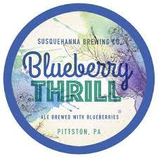 Susquehanna Blueberry Thrill beer Label Full Size